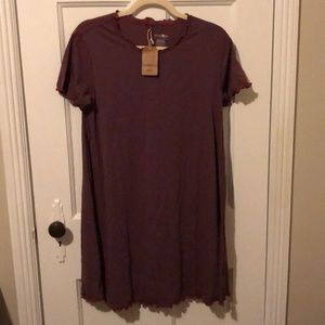 NWT Natural Life Striped Tee Dress (M)